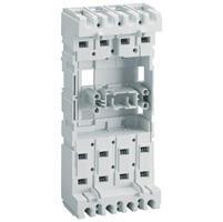 Base prises avant ou arrière pour rendre un DPX³160 magnétothermique 4P avec ou sans différentiel extractible