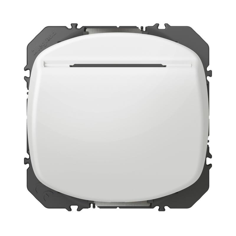 Interrupteur à badge dooxie 10AX 250V~ finition blanc