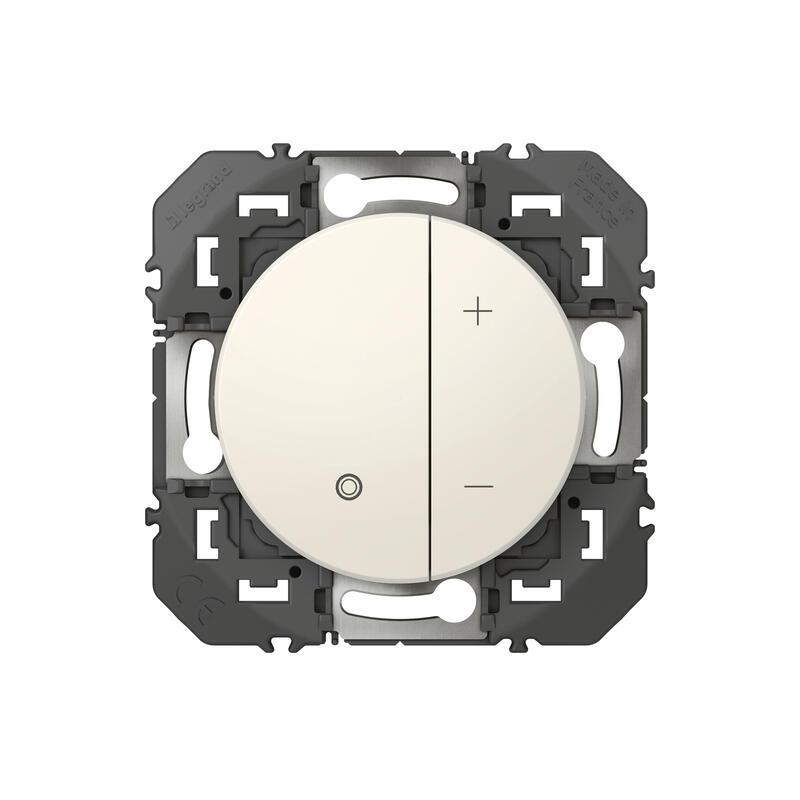 Variateur toutes lampes dooxie 2 fils sans Neutre finition blanc