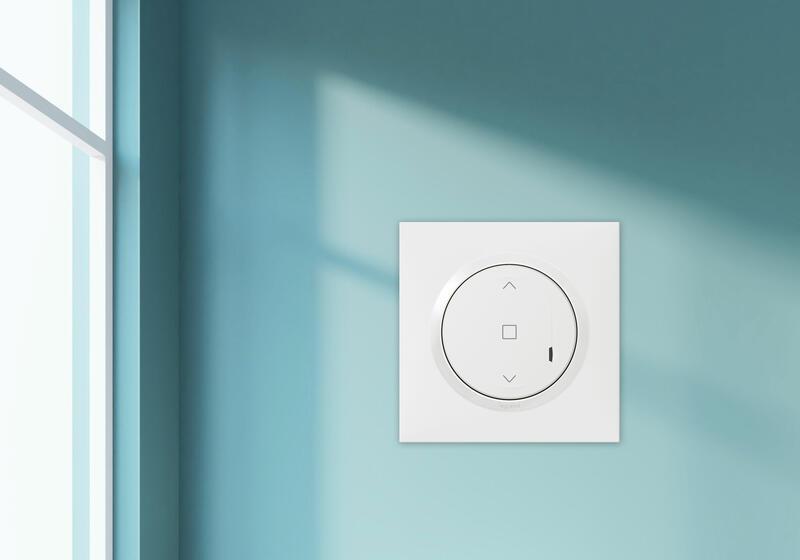 Interrupteur pour volet roulant à câbler pour installation connectée dooxie with Netatmo avec plaque blanche