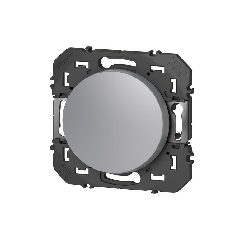 Interrupteur ou va-et-vient dooxie 10AX 250V~ finition alu