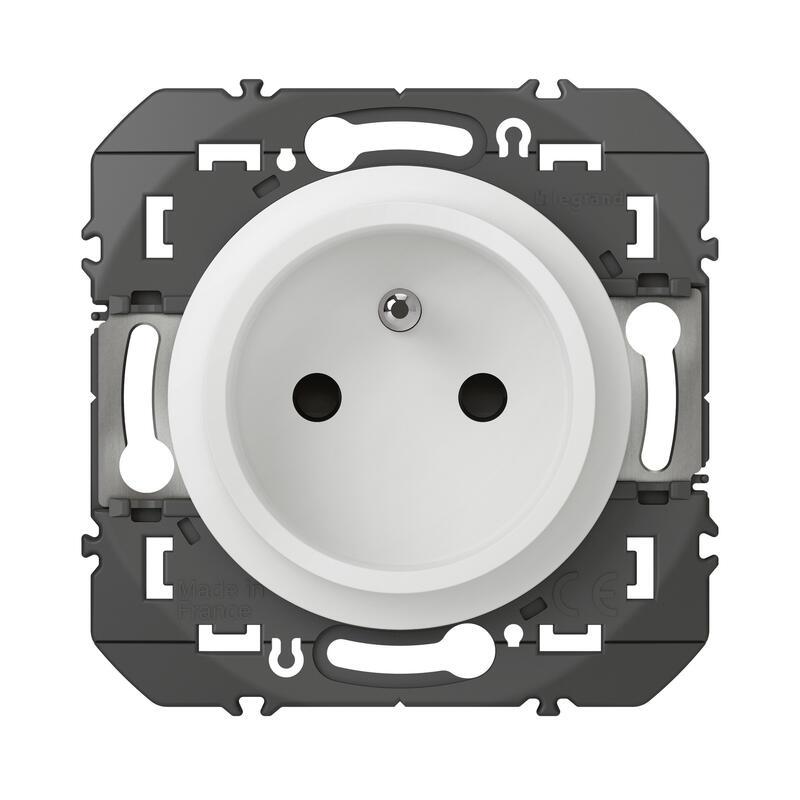 Prise de courant easyréno 2P+T faible profondeur dooxie 16A finition blanc