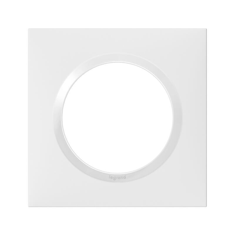 Plaque carrée dooxie 1 poste finition blanc
