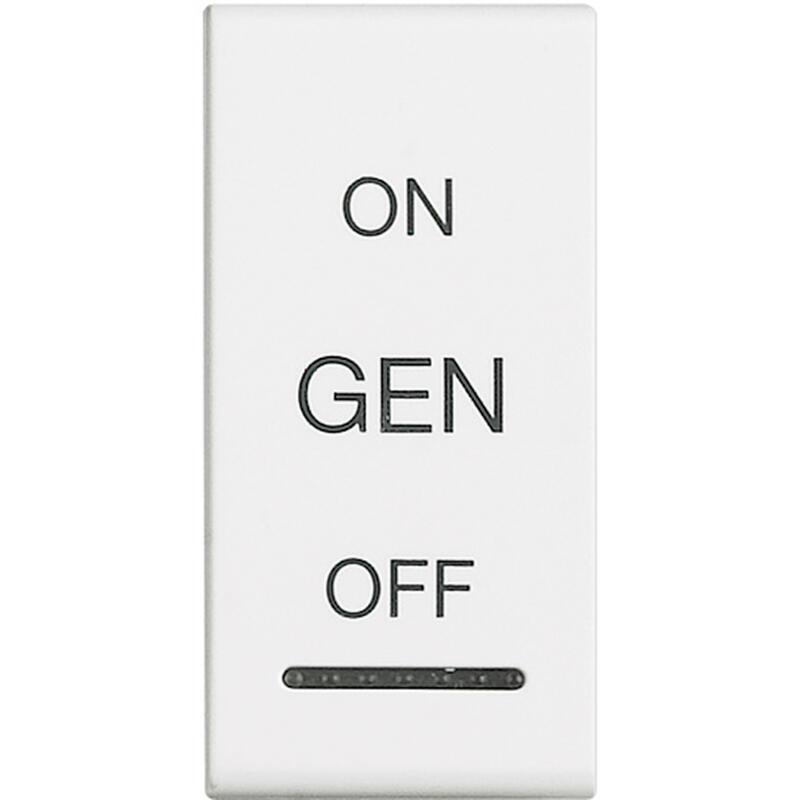 Manette Livinglight symbole ON , OFF et GEN 1 module - blanc